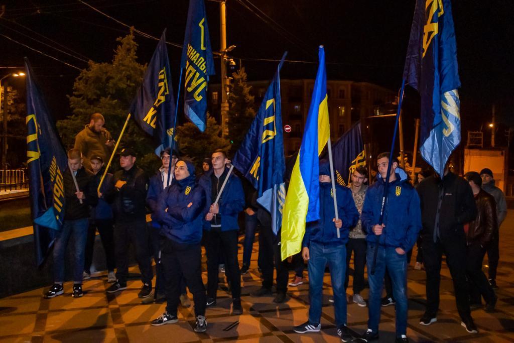 Митинг и пиротехника под СБУ в Днепре: что происходило. Новости Днепра