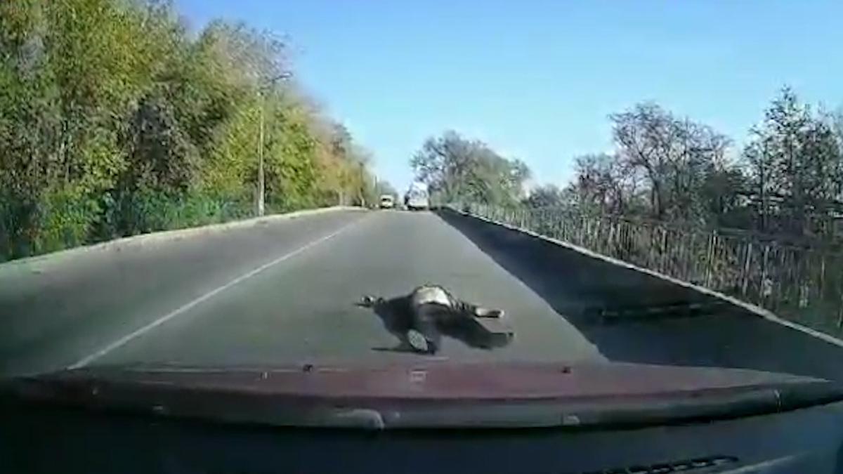 Под Днепром мужчина выпал из скорой: видео. Новости Днепра