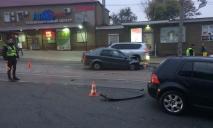 Жесткое столкновение двух авто: Днепр стоит в пробках
