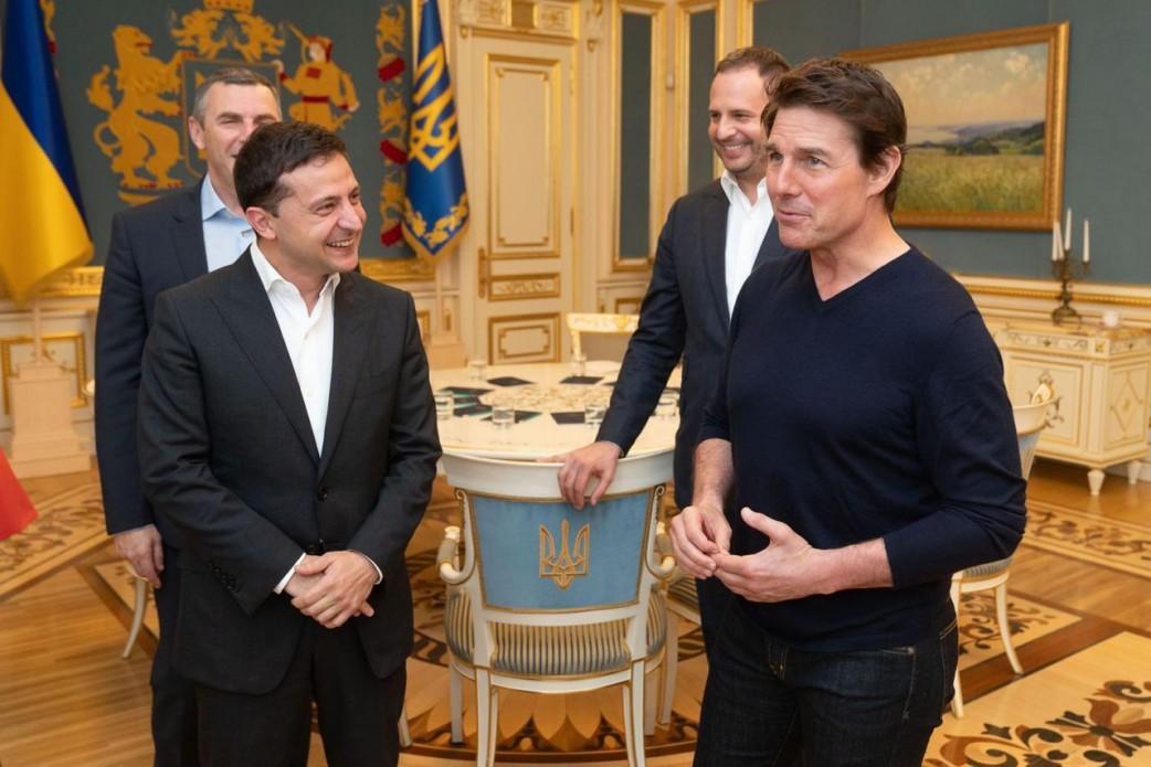 Зеленский рассказал Тому Крузу о преимуществах съемок фильмов в Украине. Новости Украины