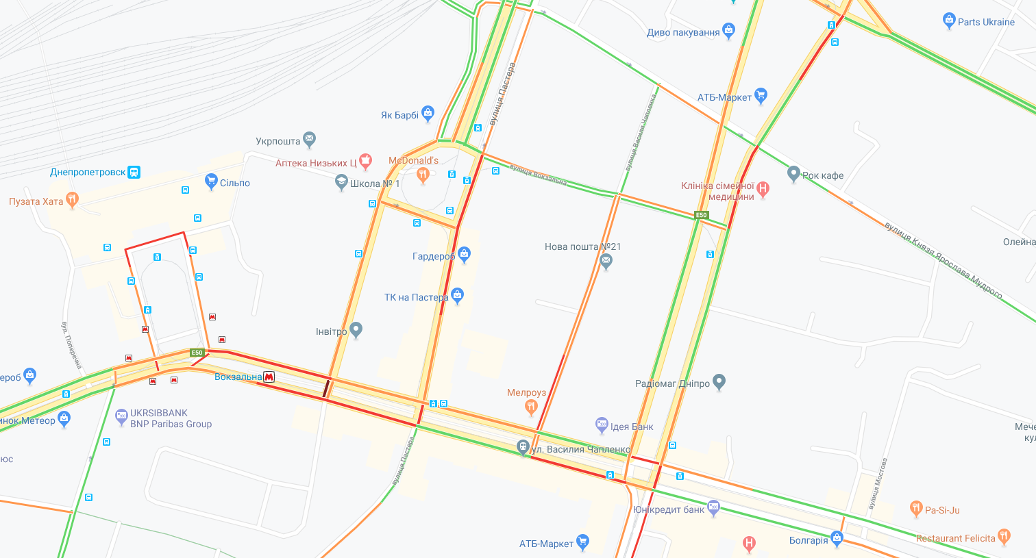 Куда не стоит ехать: где «пробки» и какова ситуация на дорогах Днепра. Новости Днепра
