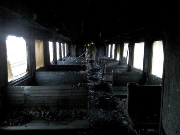 Масштабный пожар: вагон пассажирского поезда сгорел дотла. Новости Днепра