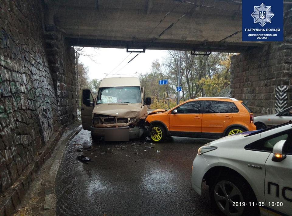 В Днепре маршрутка попала в ДТП. Новости Днепра