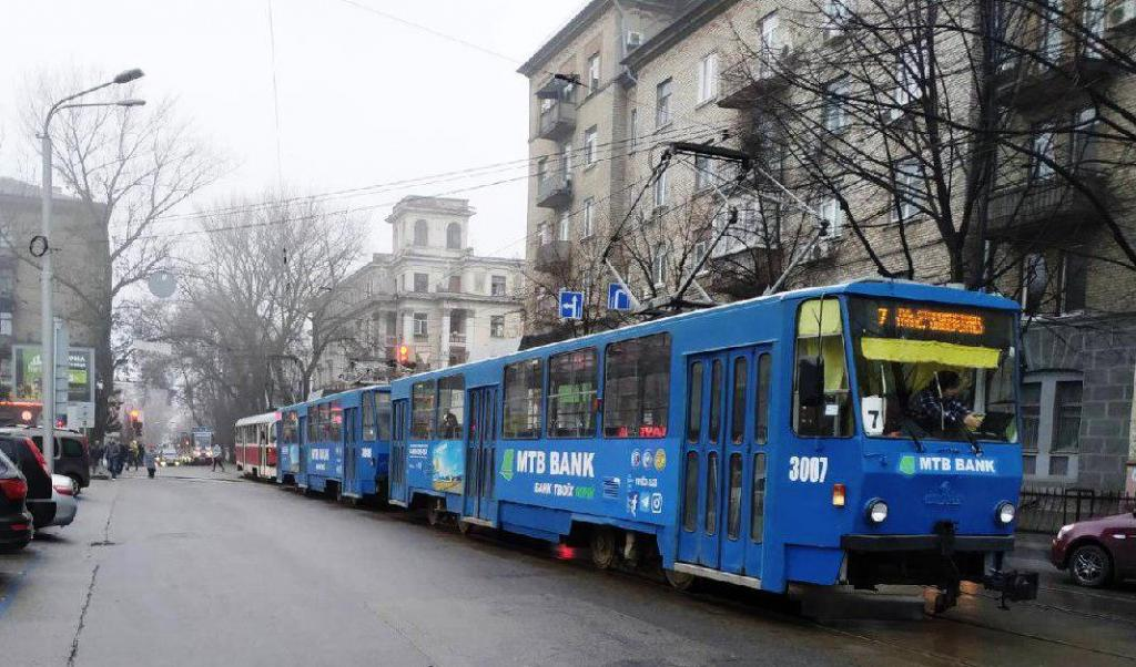 ДТП в Днепре: трамваи ходят по-другому, на дорогах пробки. Новости Днепра