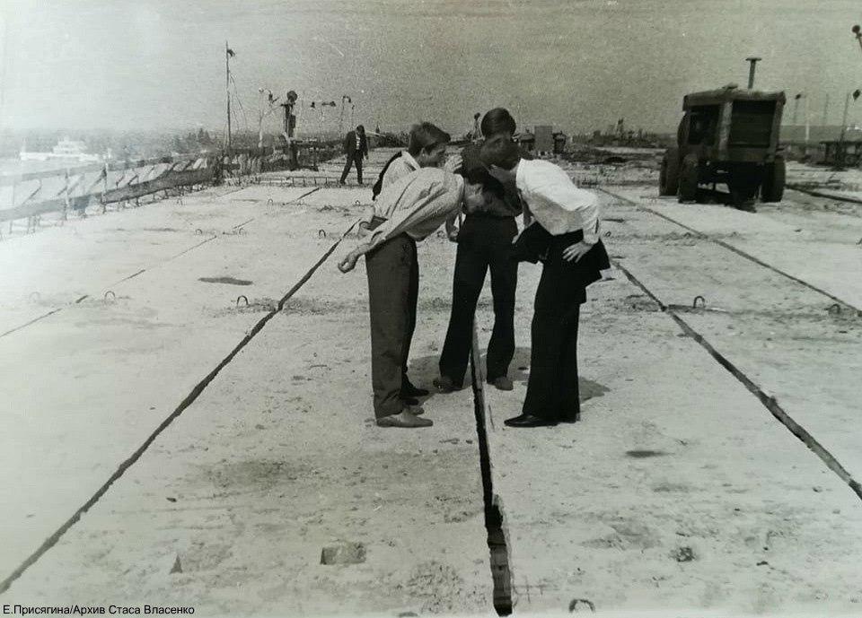 Опубликовано уникальное фото строительства Нового моста в Днепре. Новости Днепра
