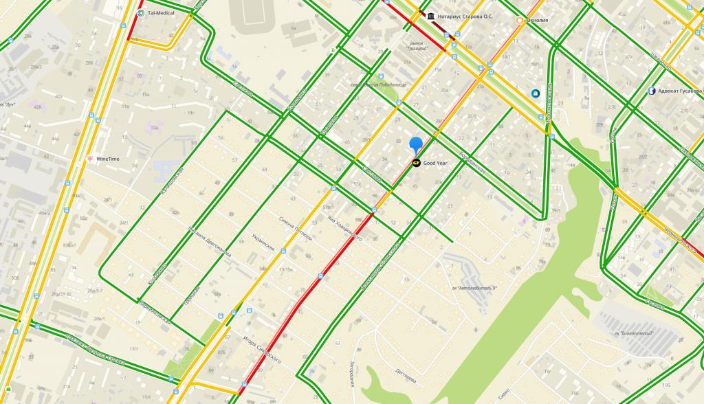В Днепре столкнулись два авто: улица перекрыта, на дорогах пробки. Новости Днепра