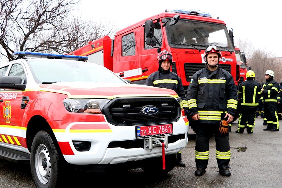 Спасателям Днепропетровщины вручили новую спецтехнику. Новости Днепра