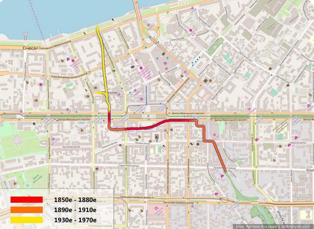 Костюк показал, где в центре Днепра течет подземная река. Новости Днепра