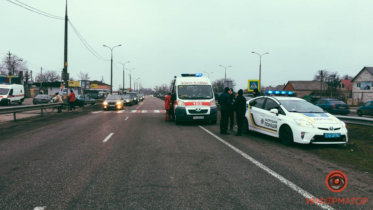 Появилось видео момента ДТП на переходе под Днепром. Новости Днепра