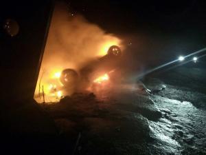 Автомобиль загорелся на ходу. Новости Днепра