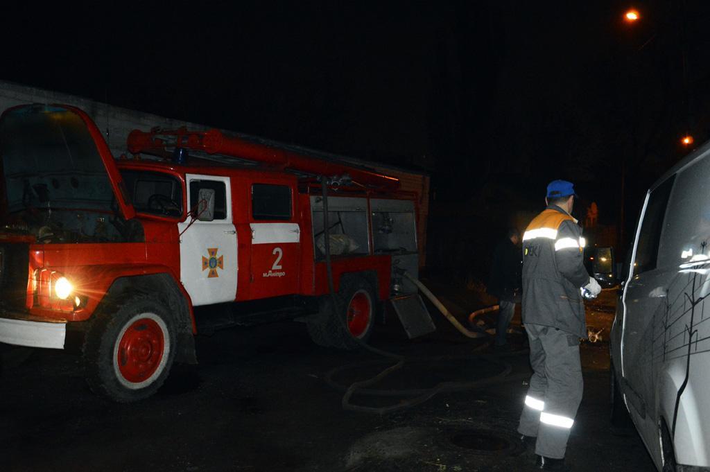 Пожар в Днепре: горел частный дом. Новости Днепра
