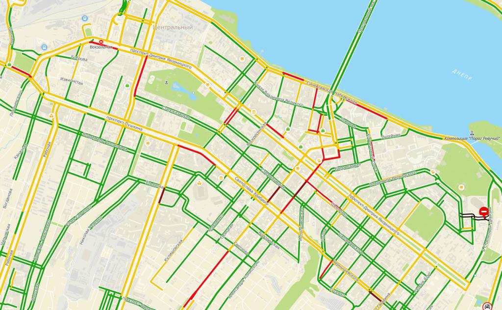 Пробки на дорогах Днепра: куда сейчас не стоит ехать. Новости Днепра