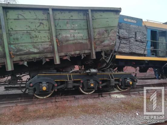 Грузовые вагоны сошли с рельсов. Новости Днепра