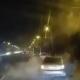 Отнесло на середину дороги: видео момента ДТП на Набережной в Днепре