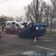 На Набережной в Днепре перевернулось авто: видео момента ДТП