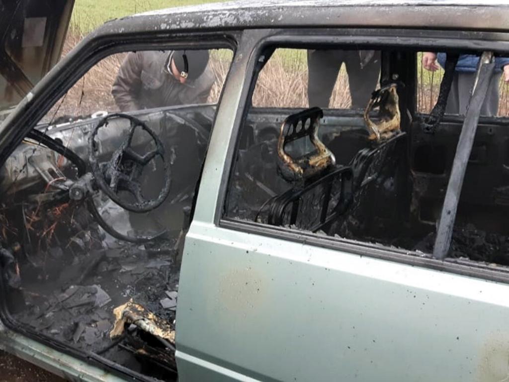 Пожар на трассе: огонь уничтожил автомобиль. Новости Днепра
