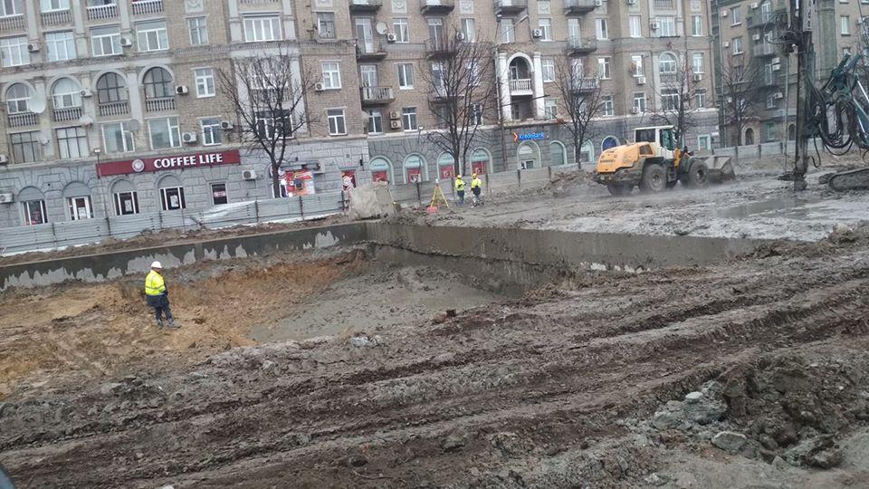 В Днепре начали рыть котлован под вестибюль станции метро. Новости Днепра
