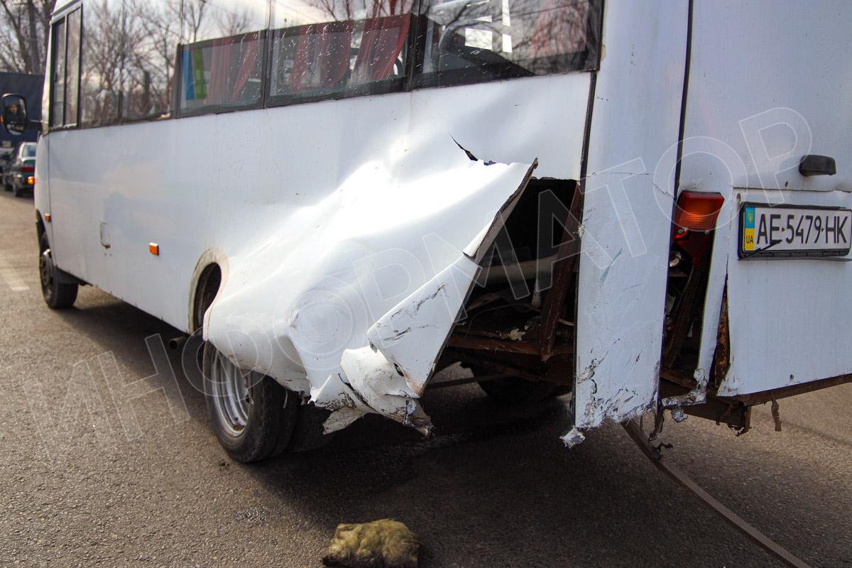 Маршрутка с пассажирами попала в ДТП. Новости Днепра