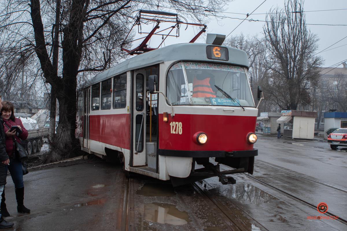 Видео «дрифта» трамвая в Днепре. Новости Днепра