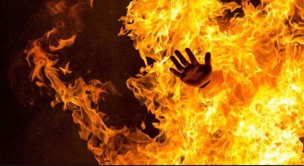 В центре Днепра загорелся человек. Новости Днепра