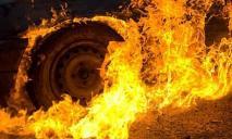 В Днепре загорелась маршрутка с пассажирами