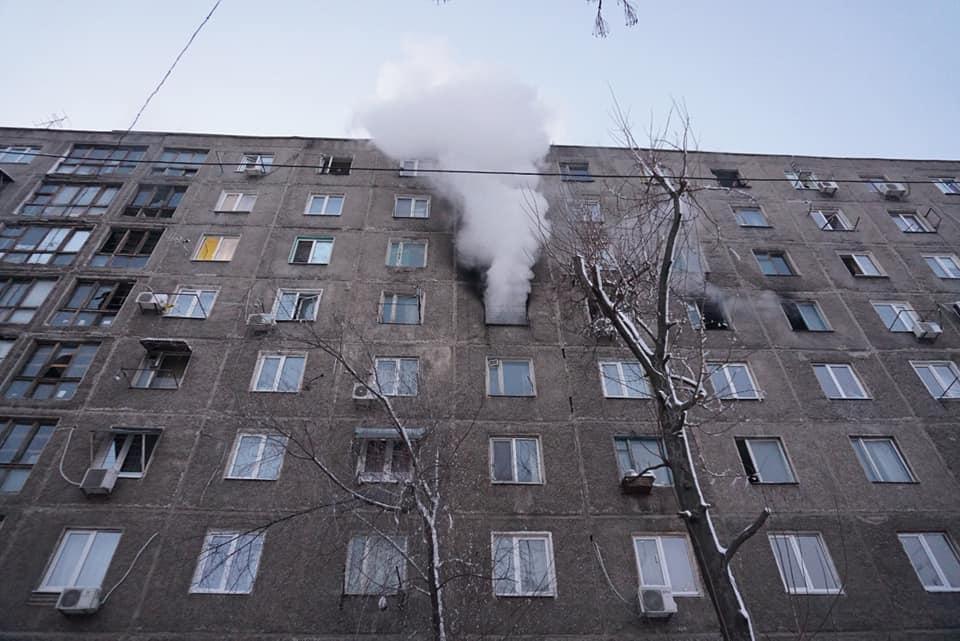 В Днепре загорелось общежитие: пострадавшие до сих пор «отрезаны» от цивилизации. Новости Днепра