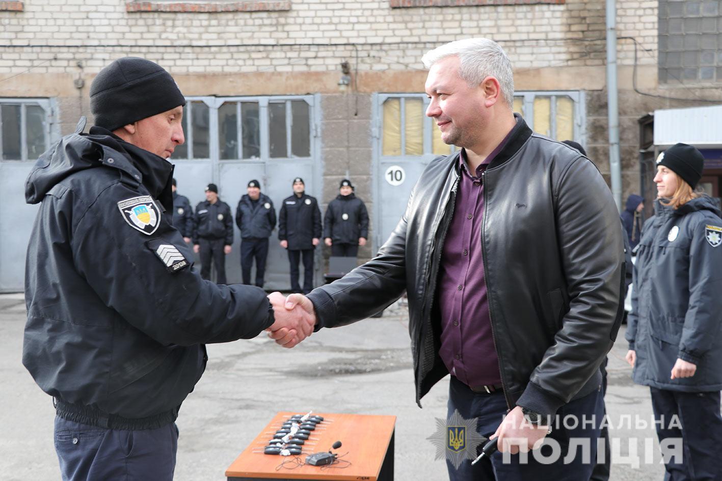 Днепровской полиции охраны вручили 10 новых служебных автомобиля. Новости Днепра