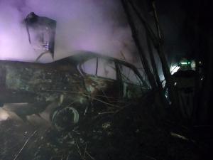 На трассе загорелась машина. Новости Днепра
