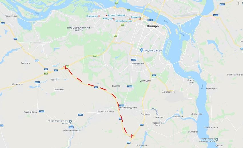 Под Днепром перекрыли объездную дорогу. Новости Днепра