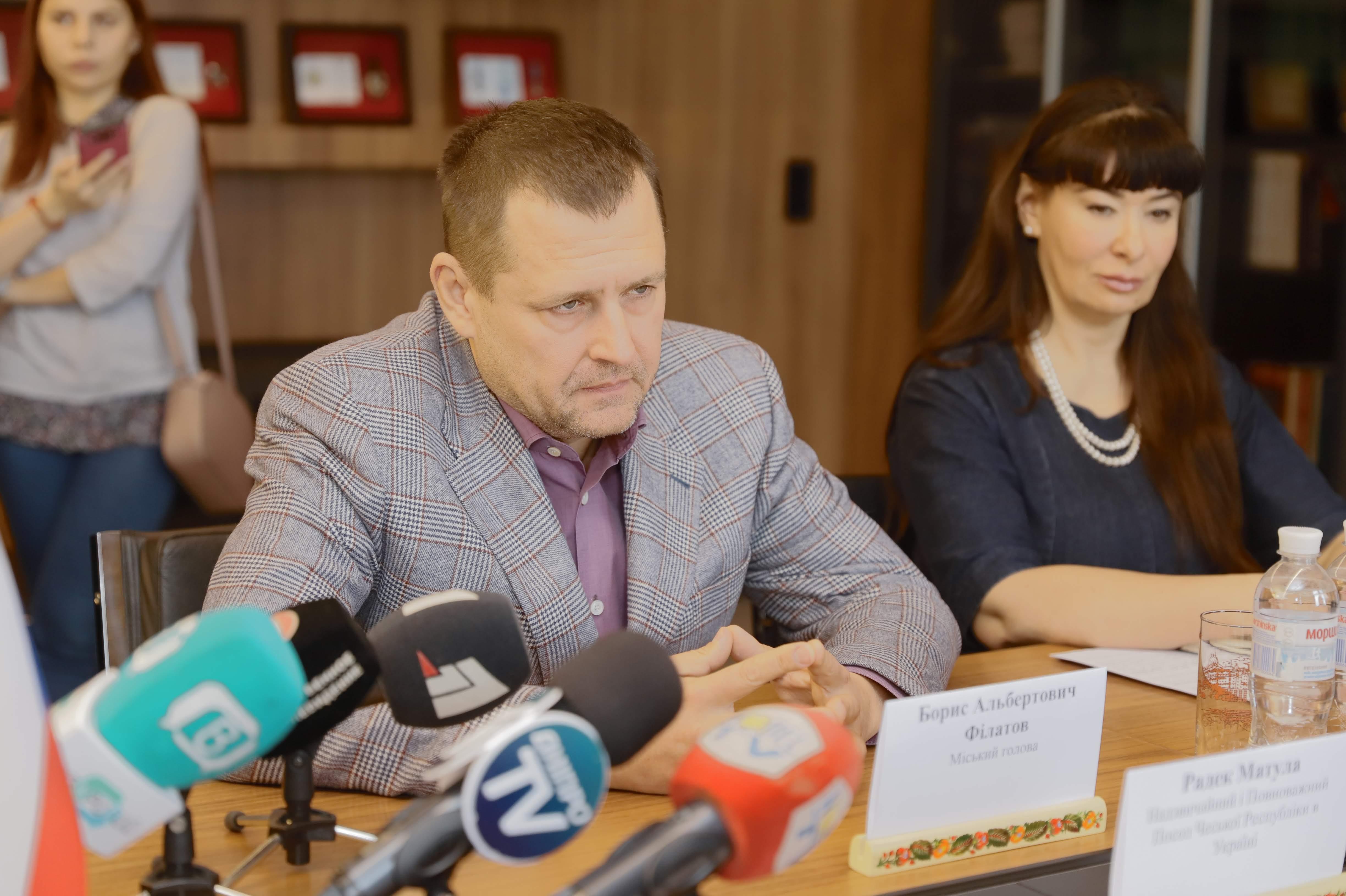 Филатов встретился с делегацией из Чехии. Новости Днепра