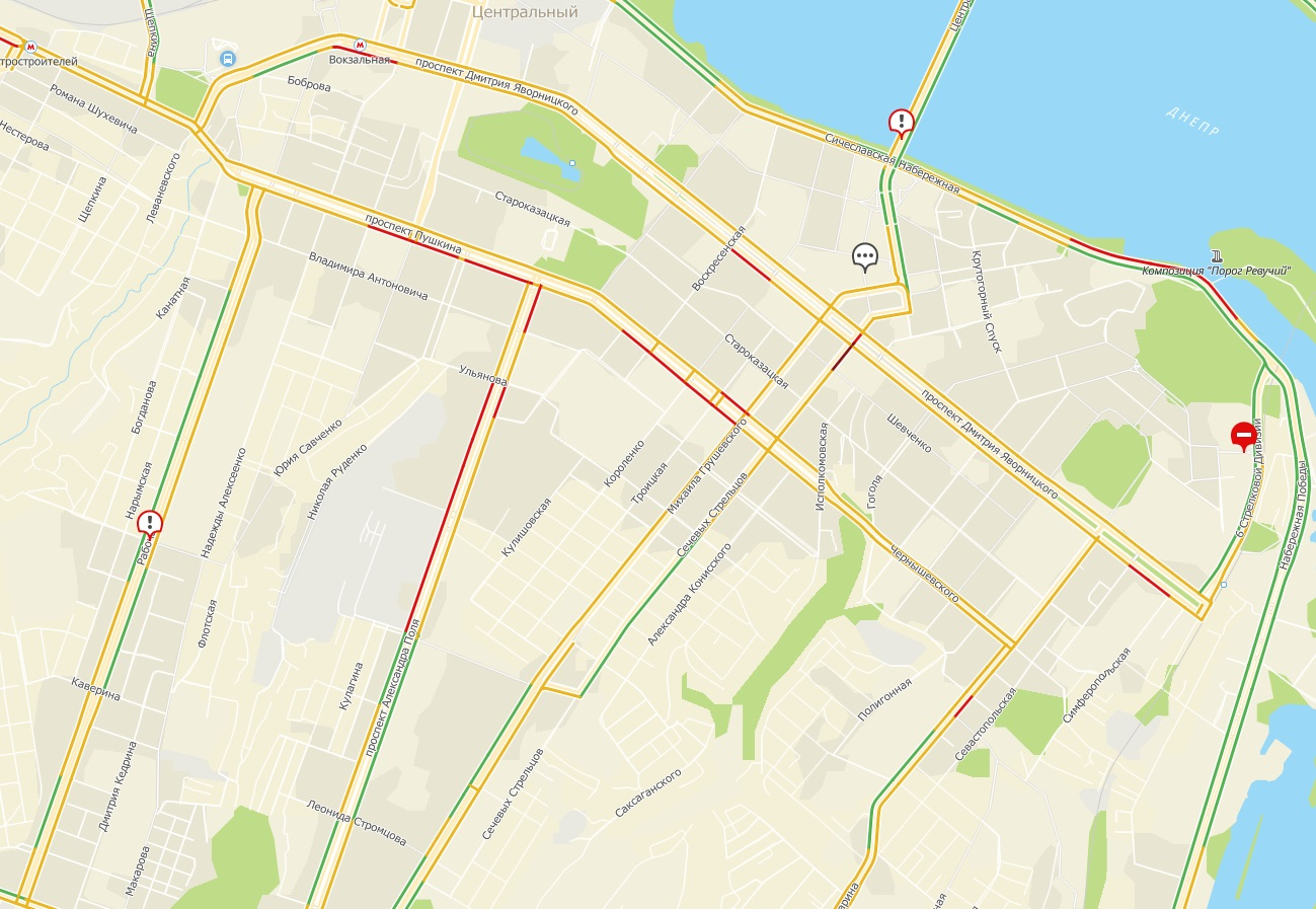 Серьезные пробки в Днепре: ситуация на дорогах. Новости Днепра