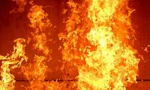 На Днепропетровщине горел микроавтобус
