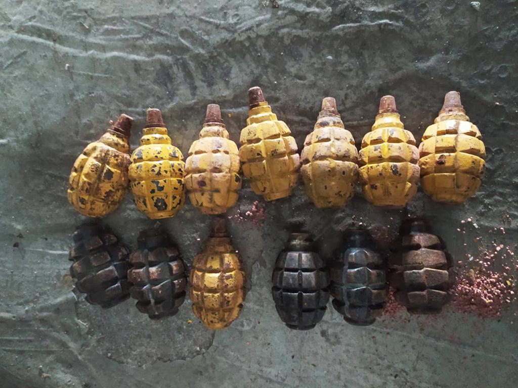 Днепрянин обнаружил в мусоре 13 гранат. Новости Днепра