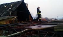 Серьезный пожар в Днепре: сгорел жилой дом