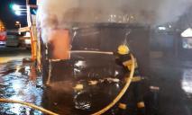 В одном из киосков Днепра загорелись холодильники