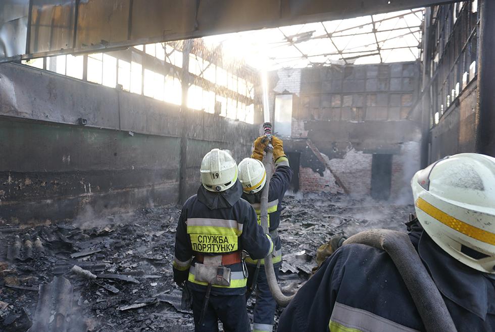 В Днепре горела заброшенная постройка. Новости Днепра