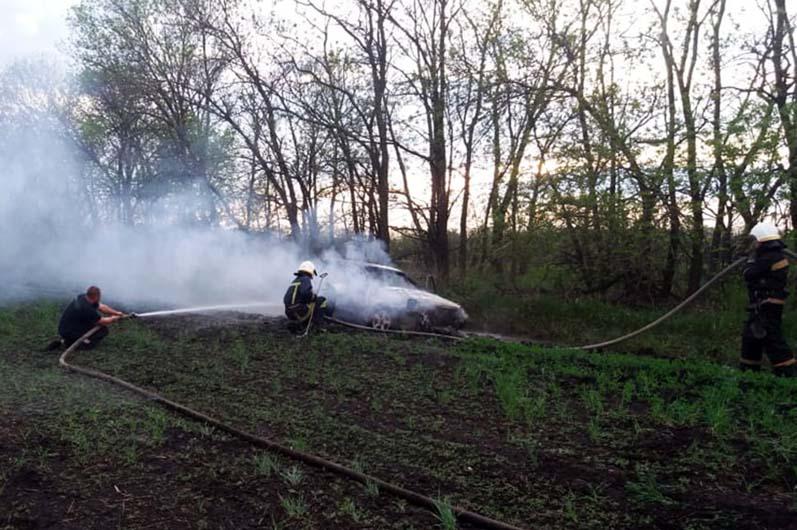 На Днепропетровщине авто загорелось во время движения. Новости Днепра