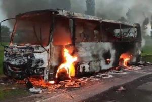 Загорелся рейсовый автобус. Новости Днепра