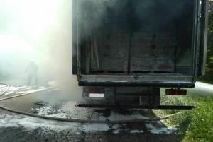 Загорелся грузовой автомобиль.Новости Днепра