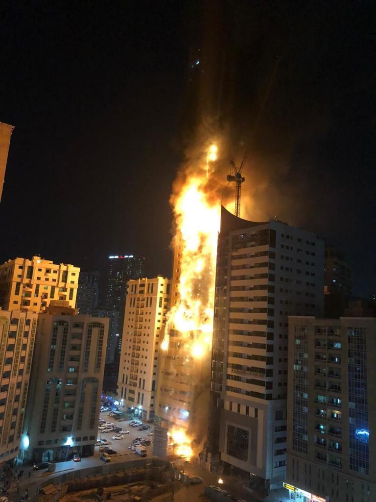Пожар в небоскребе в ОАЭ: подробности. Новости мира