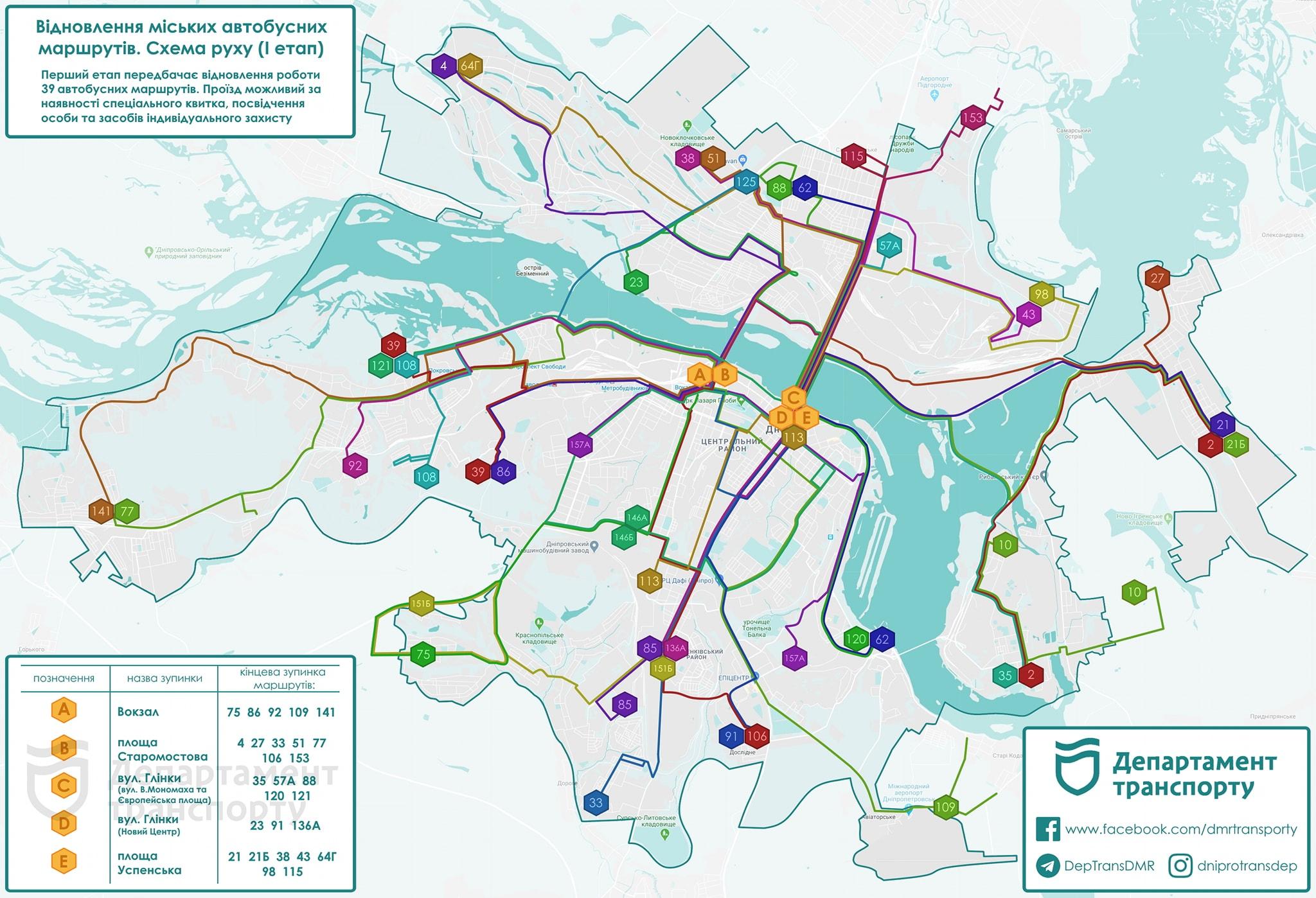 В Днепре с 12 мая частично восстанавливается работа транспорта. Новости Днепра