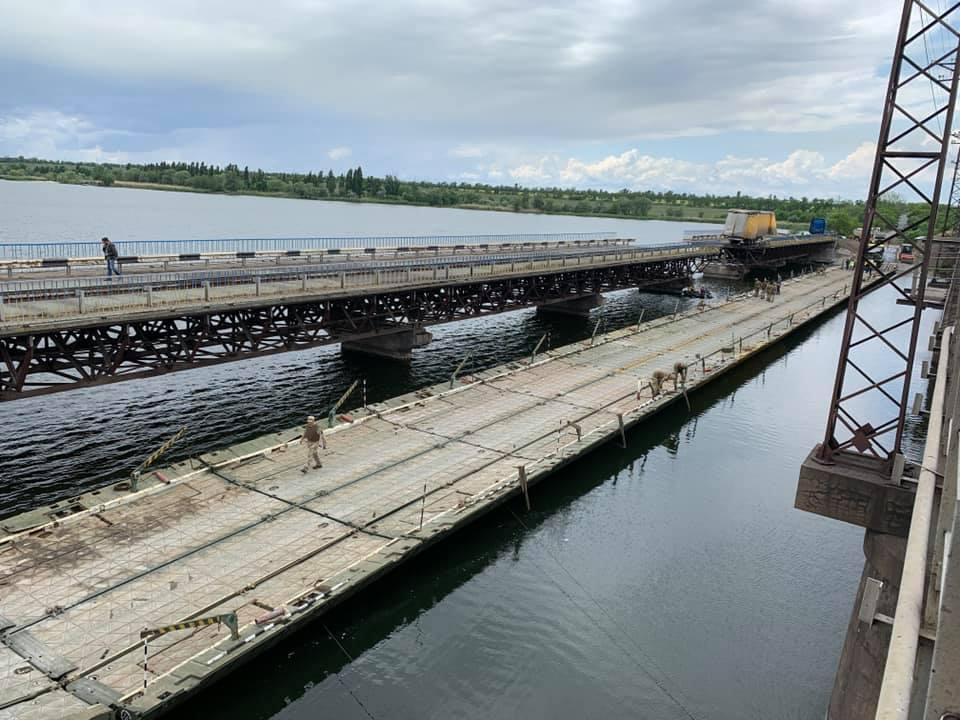 Понтонный мост в Алексеевке собрали за день. Новости Днепра