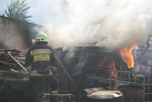 Огнем было уничтожено пластиковые емкости с жиром, бытовые отходы, деревянные поддоны и дрова. Новости Днепра