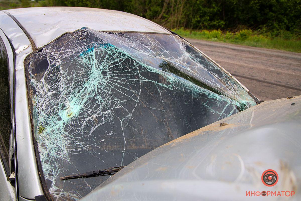 На выезде из Днепра перевернулось авто. Новости Днепра