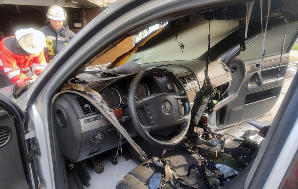 На Днепропетровщине в гараже горело легковое аавто. Новости Днепра
