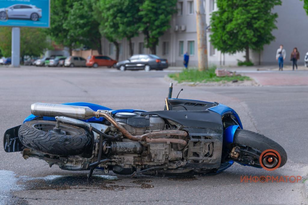 ДТП с мотоциклом. Новости Днепра