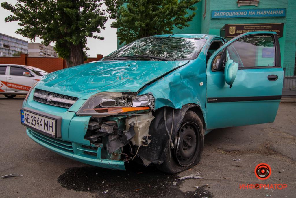 Столкнулся Chevrolet с Toyota. Новости Днепра
