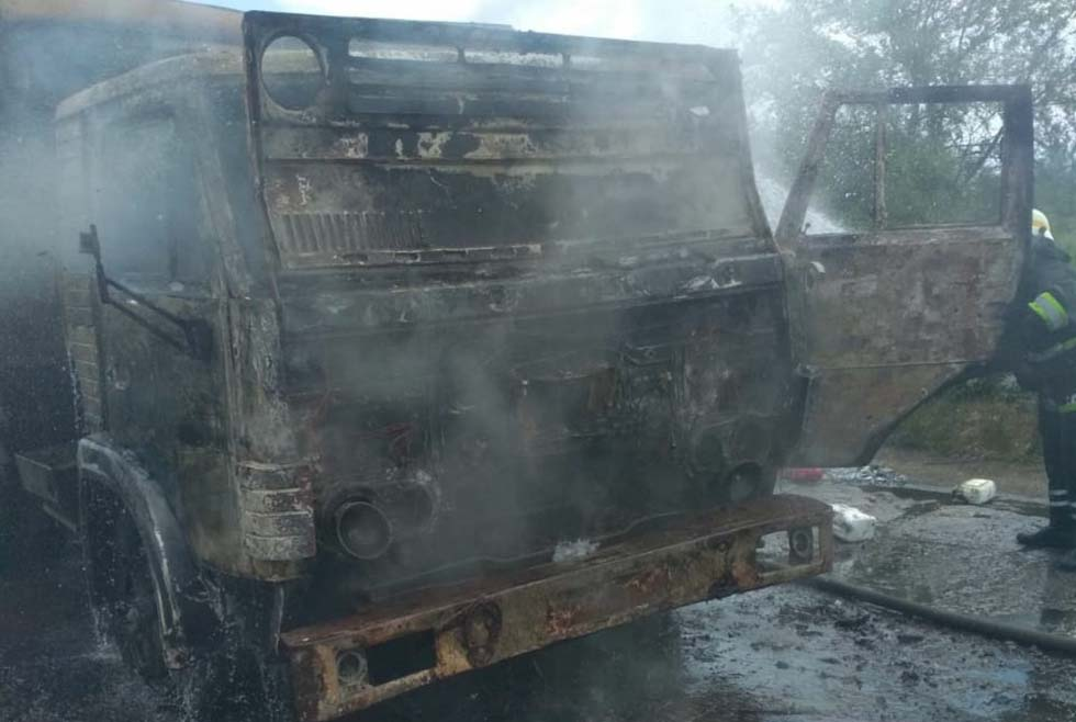 На Днепропетровщине горел грузовик. Новости Днепра