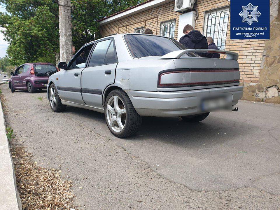 Машина наркодилера Mazda. Новости Днепра