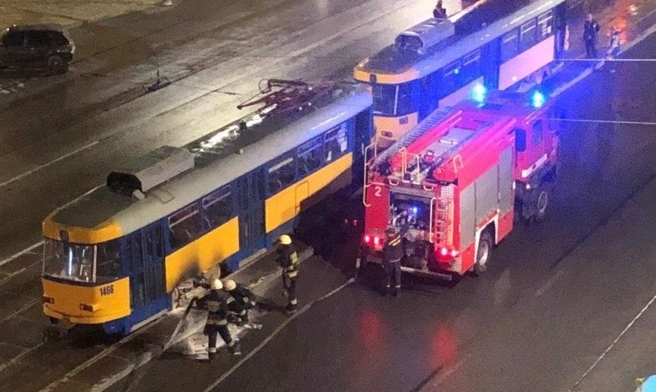 В Днепре загорелся трамвай. Новости Днепра